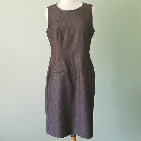 Dresses & Skirts - Sharagano brown charcoal work dress size 8